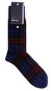 fred perry tartan socks mahogany