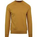French connection cotton crew neck jumper honey yellow