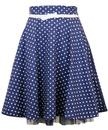 Deanna FRIDAY ON MY MIND Retro 50s Polka Dot Skirt