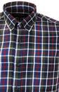 GLOVERALL Retro Grid Check Button Down Shirt