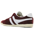 GOLA Bullet Womens Retro Suede Trainers BURGUNDY