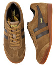 GOLA Harrier Womens Retro Suede Trainers TOBACCO