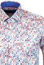 GUIDE LONDON Retro Sixties Op Art Print Shirt