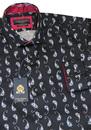 GUIDE LONDON 60s Mod Paisley Micro Square Shirt B