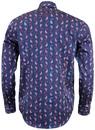 GUIDE LONDON 60s Mod Paisley Micro Square Shirt N