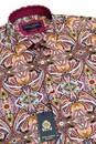 GUIDE LONDON 1960s Psychedelic Paisley Mod Shirt