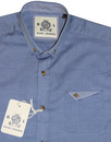 GUIDE LONDON Men's Mod Short Sleeve Oxford Shirt
