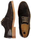 Enrico H by HUDSON Retro Suede Mod Derby Shoes (B)