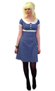 HEARTBREAKER DOLLY DRESS NAVY ORBIT RETRO MOD 60s
