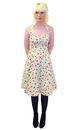 Cerise HEARTBREAKER Retro 60s Vintage Halter Dress