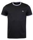 fred perry twin tipped crew neck t-shirt black