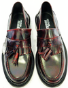 'Selecta' IKON Mens Retro Mod Bordo Tassel Loafers