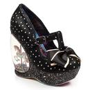 Irregular choice chestnut leather black