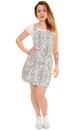 Retro 60s Psychedelic Paisley Denim Pinafore Dress
