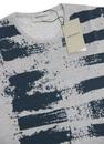 JOHN SMEDLEY Painted Stripe 70s Merino Wool Jumper