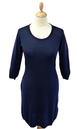 JOHN SMEDLEY IMPERIAL DRESS KNITTED DRESS SIXTIES