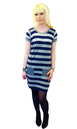 JOHN SMEDLEY LARNA DRESS STRIPED TSHIRT DRESS MOD