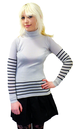 Rescue JOHN SMEDLEY Retro 60s Stripe Roll Neck Top