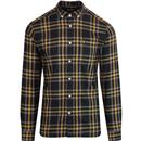 LYLE & SCOTT Retro Mod Flannel Check Shirt BLACK