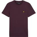 lyle and scott crew neck tshirt deep plum