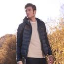 LYLE & SCOTT Mens Lightweight Puffer Jacket - Navy