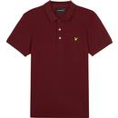 lyle and scott slim stretch polo shirt claret jug
