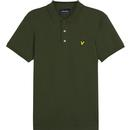 lyle and scott slim stretch polo woodland green