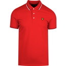 Lyle and scott tipped polo shirt dark red