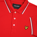 LYLE & SCOTT Men's Tipped Mod Pique Polo - RED