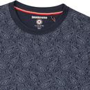 LAMBRETTA Mod Sixties All Over Paisley Print Tee