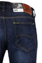 Daren LEE Retro Slim Leg Strong Hand Denim Jeans