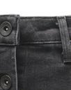 LEE Retro Mod Sixties Button Through Denim Skirt