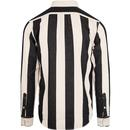 LEE Mod Button Down Collar Striped Shirt in B/W