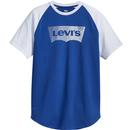 Levis S/S Baseball Shirt Blue/White