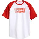 Levis S/S Baseball HM Tee White/Red