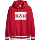 LEVI'S Mens Retro 70s Athletics Logo Hoodie in Red