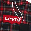 LEVI'S Modern Mens Retro Plaid Check Hooded Top