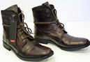 LEVIS MENS SAVAGE RETRO WORKER BOOTS INDIE BOOTS