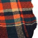 Koko LOUCHE Retro Tartan Pompom Knit Scarf (Navy)