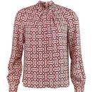 Louche tatiana blouse snaffle pink
