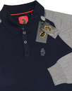 Whacker LUKE 1977 Retro Mod 60s Knitted L/S Polo