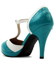 Anne LULU HUN Retro 1960s Mod Strap High Heels
