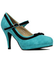 LULU HUN DEBBIE RETRO SUEDE MARY JANE HIGH HEELS