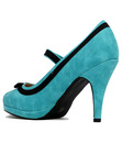 Debbie LULU HUN Retro Suede Mary Jane High Heels
