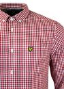 LYLE & SCOTT Retro Mod Button Down Gingham Shirt