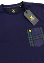 LYLE & SCOTT Retro Mod 60s Mens Tartan Pocket Tee