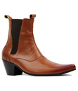 OUTLAW RETRO MOD MADCAP CHELSEA BOOTS BROWN