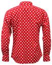 Penny Dot Lane Retro 60s Mod MADCAP Shirt (R/W)