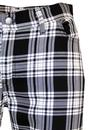 Tartan Trews MADCAP ENGLAND Retro Mod Trousers BW