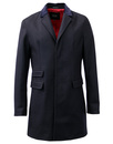 MADCAP ENGLAND RETRO MOD TOP COAT OVERCOAT NAVY